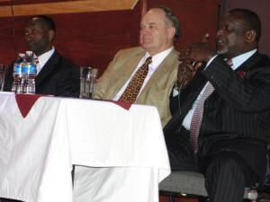 HE Peter Ogego in a Q7A session during the launch of the East Africa Chamber of Commerce over the weekend
