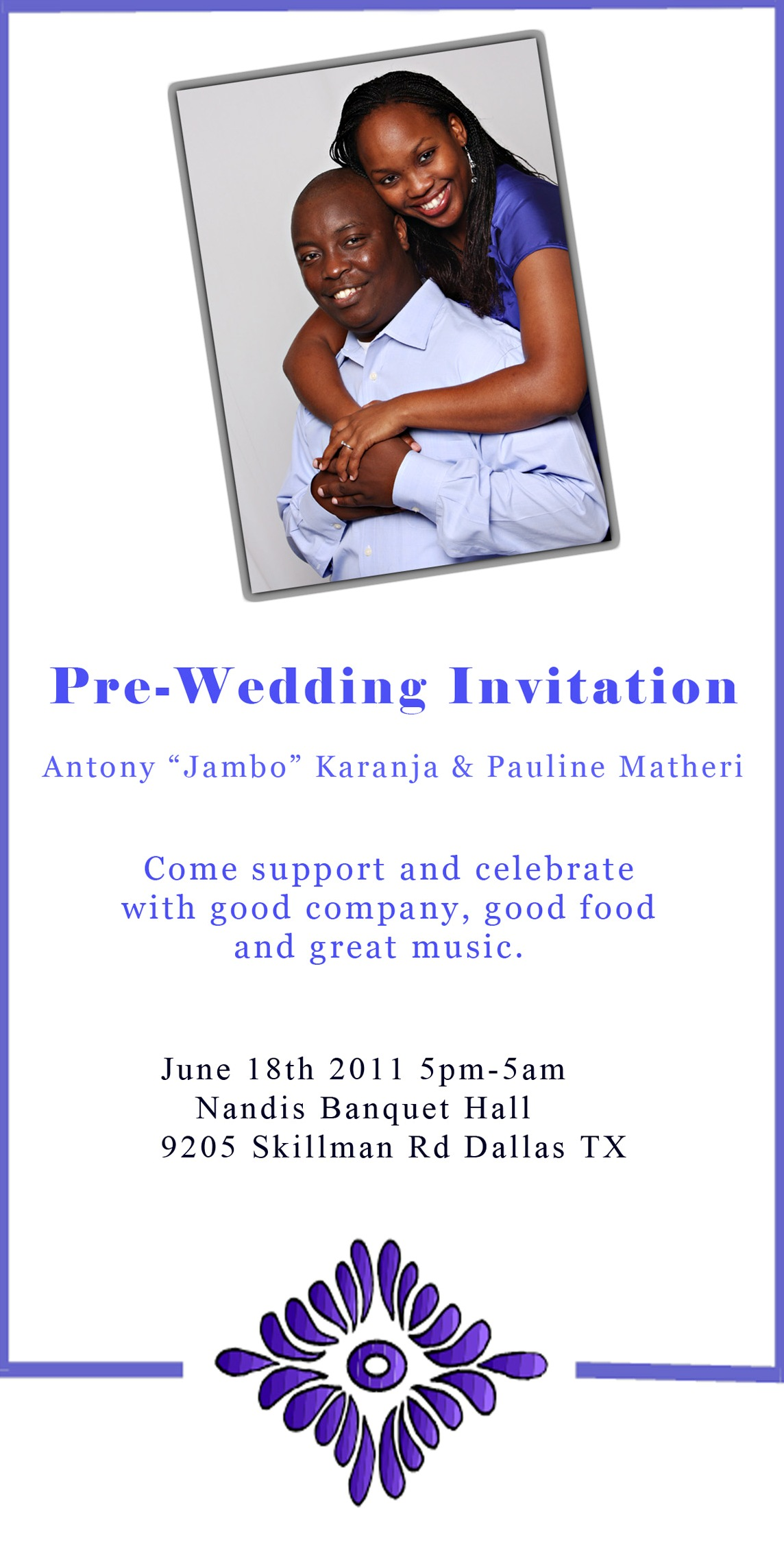 Invitation From The Wedding Committee Of Antony Jambo Karanja