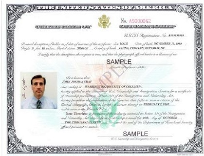 USCIS has also  redesigned Certificate of Citizenship that renders the certificate more tamper-proof.