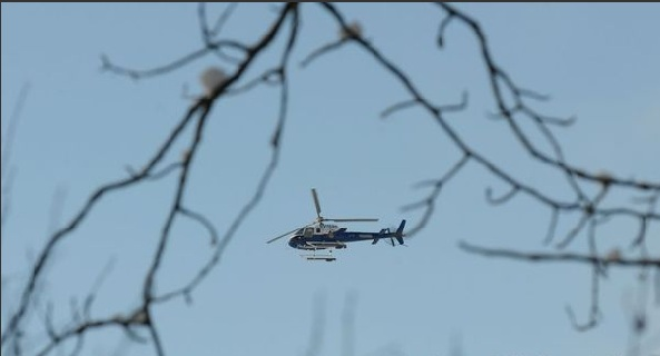 A Helicopter that took part in the search for Cheseto