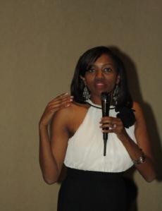 Dallas based attorney Susan Kihika during her campaign kick-off dinner in Dallas on Saturday night.