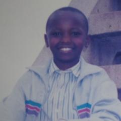 Benson Macharia when he was young