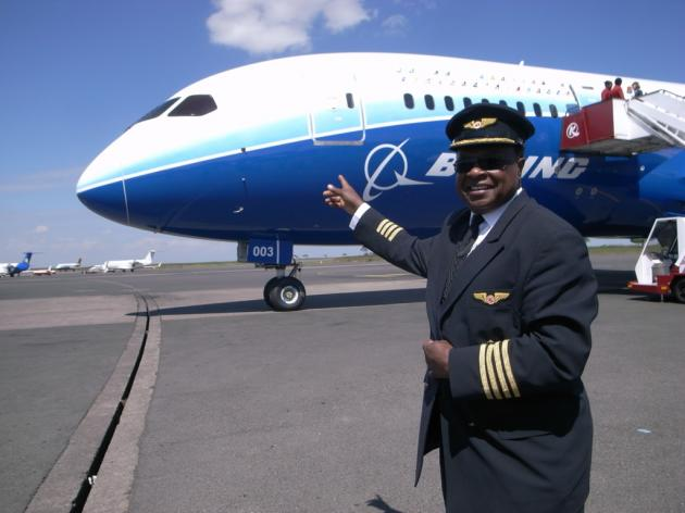 Boeing's latest plane - the 787 - stops off in Kenya as it continues a familiarisation tour of the world