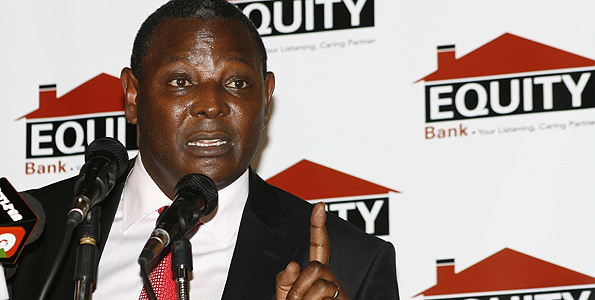 File | NATION Equity Bank chief executive officer, Dr James Mwangi, during a past function