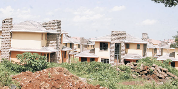 A housing development in Nairobi. A recent report indicates that the real estate sector is finally cooling off after almost a decade of sustained expansion. The report shows the first ever reversal in prices since the bubble started blowing up in the year 2000. In the last quarter of 2011, prices fell across the board. Photo/FILE