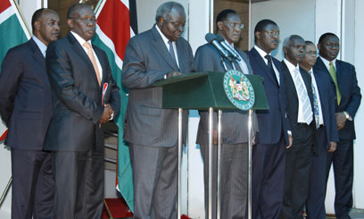 President Kibaki addresses the Nation after ICC verdict/FILE