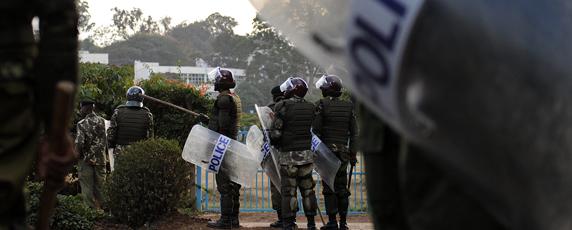 Kenyan police are accused of widespread extrajudicial killings, including the murder of reporter Francis Nyaruri. (AFP/Tony Karumba)