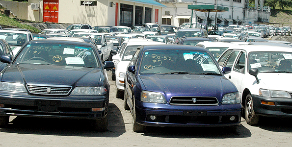 Imported cars await to be cleared by their clearing agents at the port of Mombasa. The Kenya Revenue Authority plans to destroy a fresh batch of 148 over-age vehicles seized at the port of Mombasa in an effort to reduce congestion at the various container freight stations (CFS) where the cars are currently held. Photo/FILE