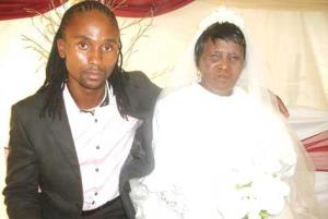 "ANCESTOR DUTY: Son and mother say: ""I do""."