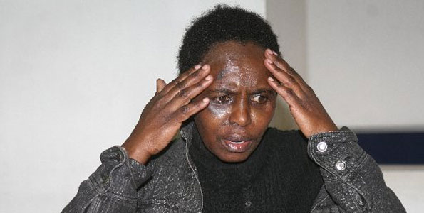 Jane Wanjiku kagimbi says she was assaulted by her employer In Saudi Arabia where she had gone to work as a house help on April 9, 2012. Photo/JENNIFER MUIRURI