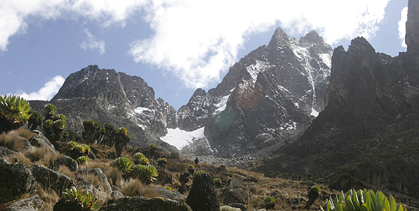 A view of Mount Kenya. A middle-aged man who was among 27 hikers has died climbing while Mount Kenya April 6, 2012. FILE